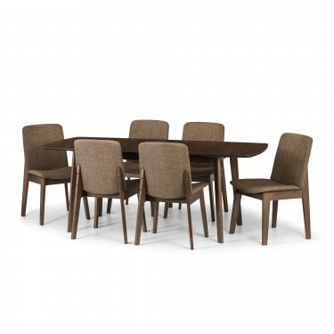 Marco Dining Set Of 6, Walnut