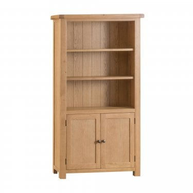 Marston 2 Door Bookcase, Real Oak