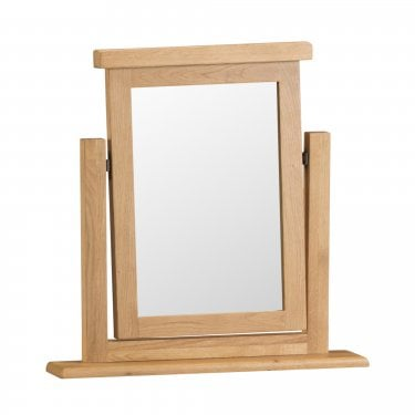 Marston Dressing Table Mirror, Real Oak