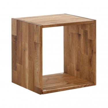 Maximo Cube 1 Tier Shelving Unit, Oak