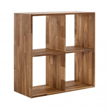 Maximo Cube 2 X 2 Tier Shelving Unit, Oak