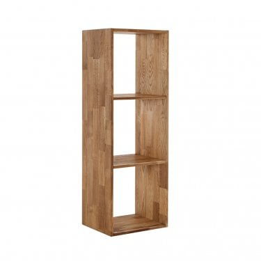Maximo Cube 3 Tier Shelving Unit, Oak