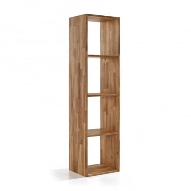 Maximo Cube 4 Tier Shelving Unit, Oak