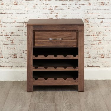 Mayan Natural Walnut Wine Cabinet