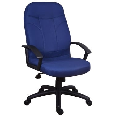 Mayfair Blue Executive Armchair with Nylon Base
