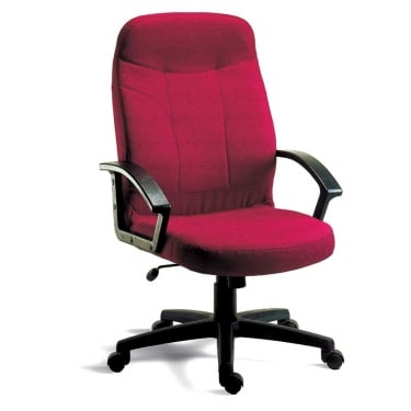 Mayfair Burgundy Executive Armchair with Nylon Base