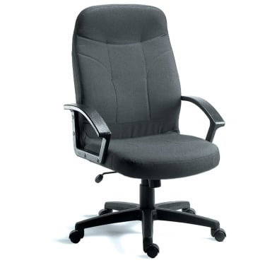 Mayfair Charcoal Executive Armchair with Nylon Base