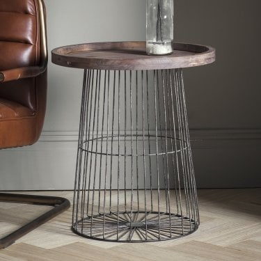 Menzies Side Table, Weathered Oak