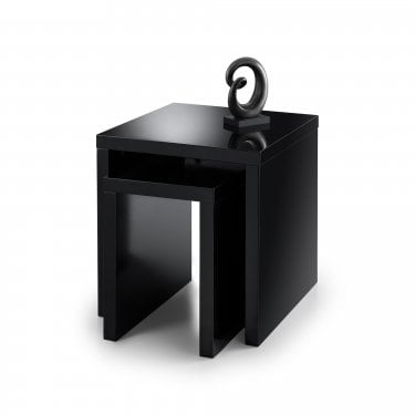 Metro Black High Gloss Nest of Tables