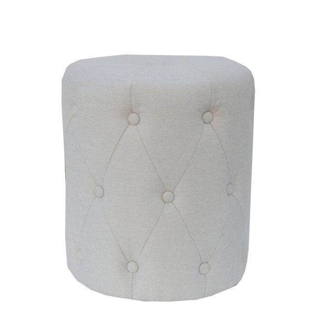 Mila Pouffe, Natural Grey Fabric