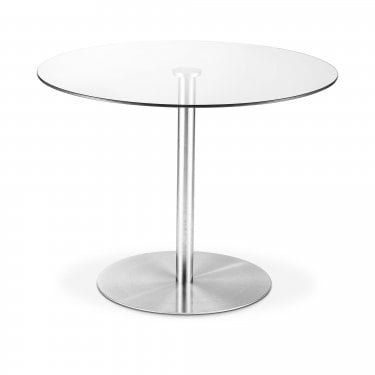 Milan Round Dining Table, Clear Glass