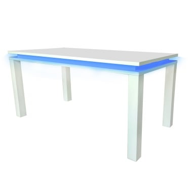 Milano High Gloss White Dining Table