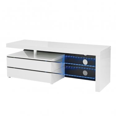 Milano High Gloss White TV Unit
