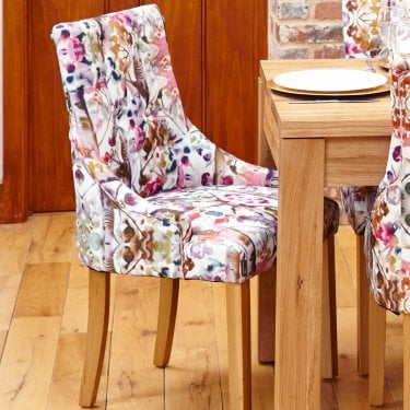 Mobel Accent Modena Linen Dining Chair Pair