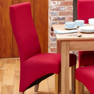Mobel Berry Linen Dining Chair Pair
