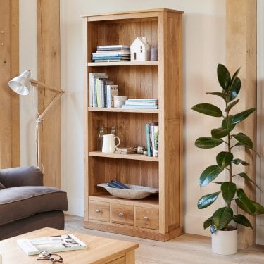 Mobel Large Lacquered Oak Bookcase