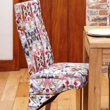Mobel Modena Linen Dining Chair Pair