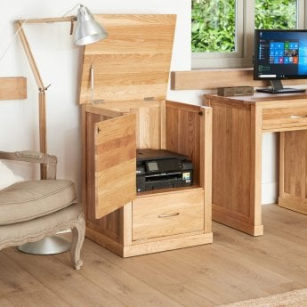baumhaus mobel natural oak printer cupboard
