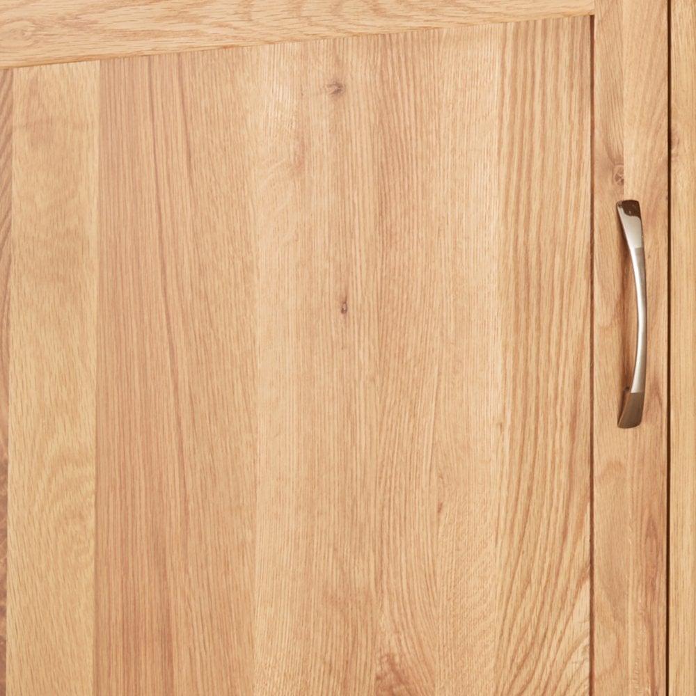mobel oak hidden office twin pedestal desk