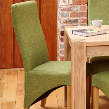Mobel Sage Linen Dining Chair Pair