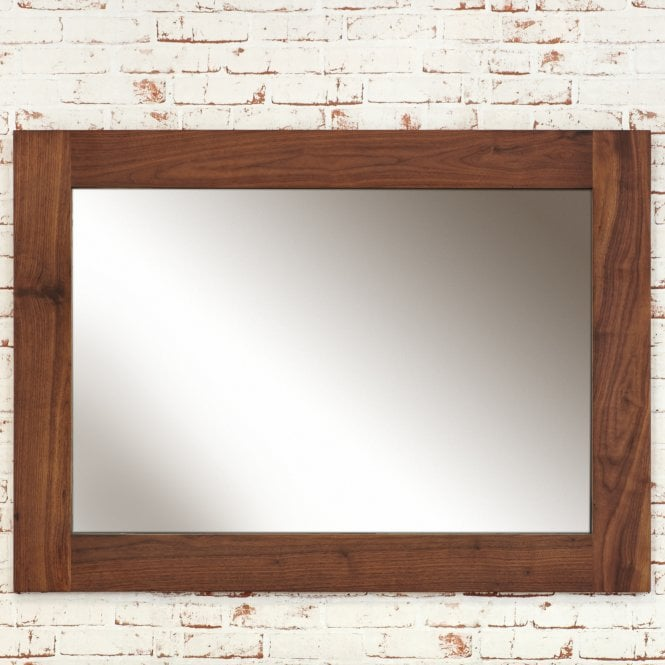 Mokoto Rectangular Wall Mirror, Walnut
