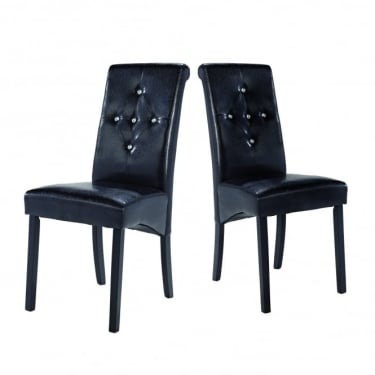 Monroe Black Dining Chair Pair