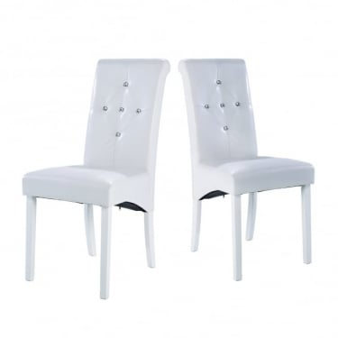 Monroe White Dining Chair Pair