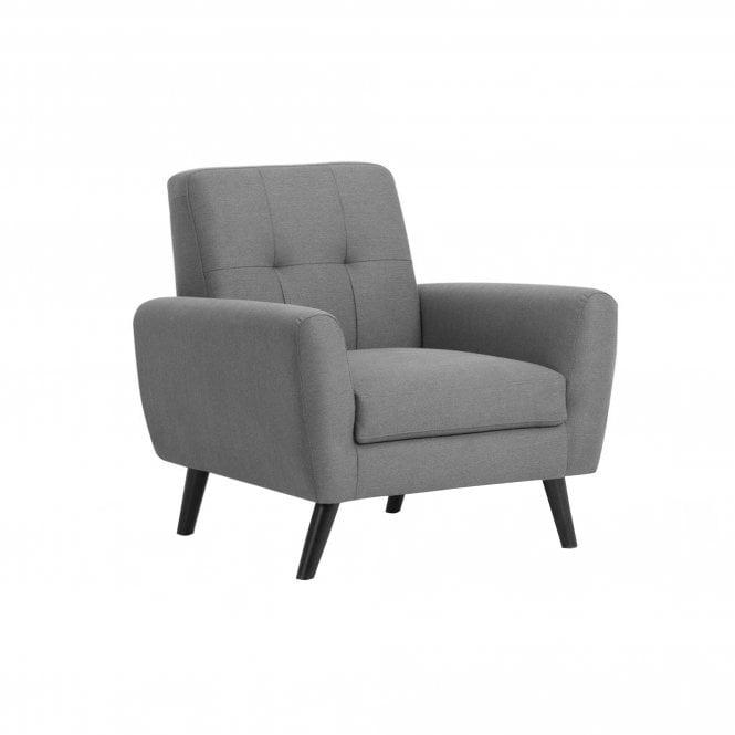 Monza Armchair, Grey Linen