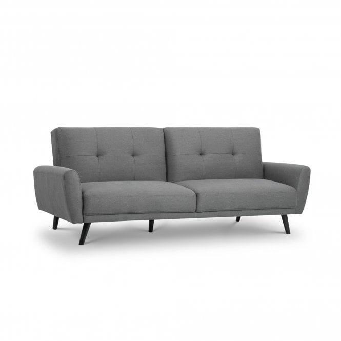 Fantastic Monza Grey Linen Small Double Sofa Bed Interior Design Ideas Clesiryabchikinfo