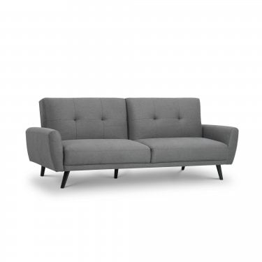 Monza Grey Linen Small Double Sofa Bed