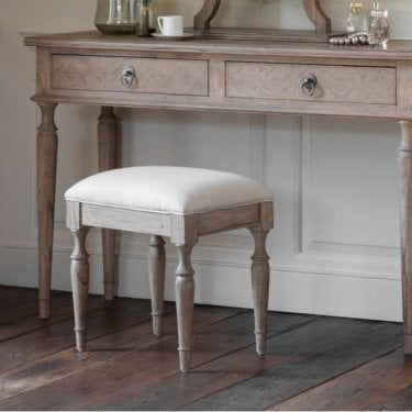 Mustique Dressing Table Stool, Aged Mindy Ash