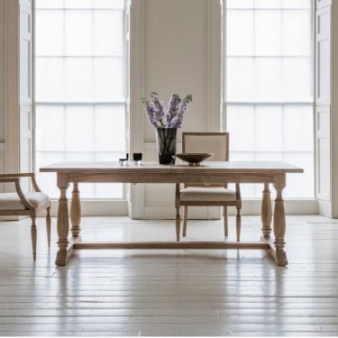Mustique Extending Dining Table, Aged Mindy Ash