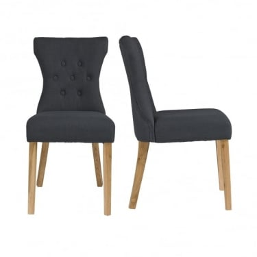 Naples Grey Dining Chair Pair