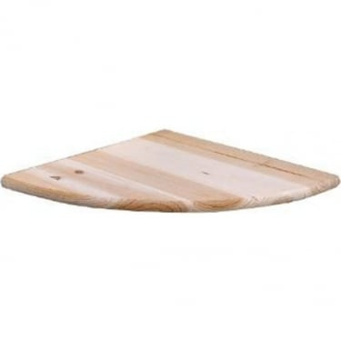 Natural Wood 200x200mm Corner Shelf Kit
