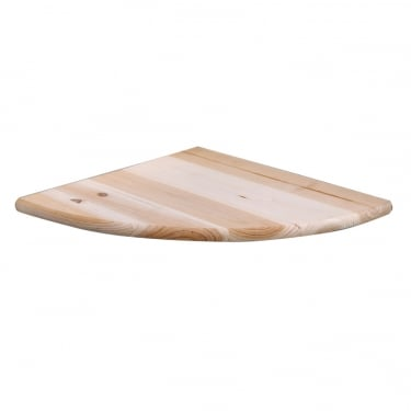 Natural Wood 285x285mm Corner Shelf Kit 3-Pack