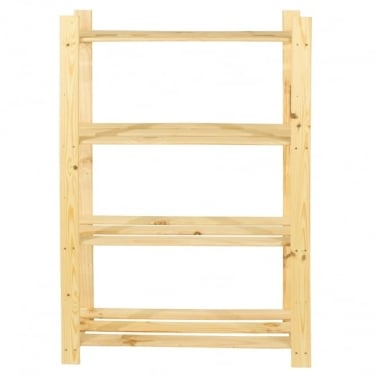 Natural Wood 300x1200mm 4 Tier Shelf Unit