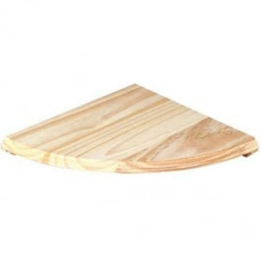 Natural Wood 380x380mm Corner Shelf Kit