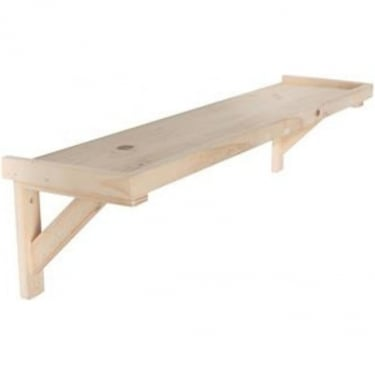 Natural Wood 600x200mm Framed Shelf Kit