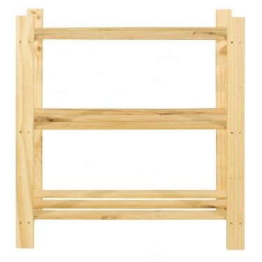 Natural Wood 600x800mm 3 Tier Shelf Unit