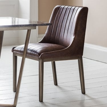 Nero Dining Chair Set Of 2, Aged Brown