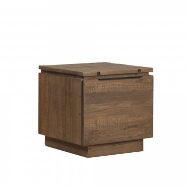 New York 1 Drawer Rustic Pine Lamp Table