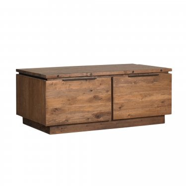 New York Rustic Pine 2 Drawer Coffee Table