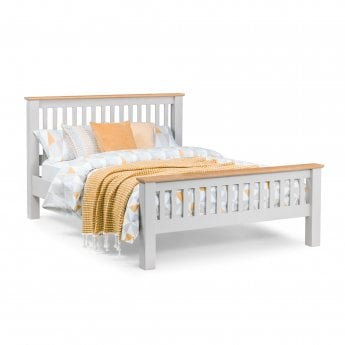 Noah Double High End Bed, Elephant Grey