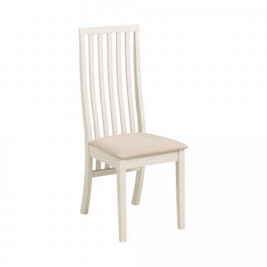 Nord Dining Chair Set Of 2, White & Ivory