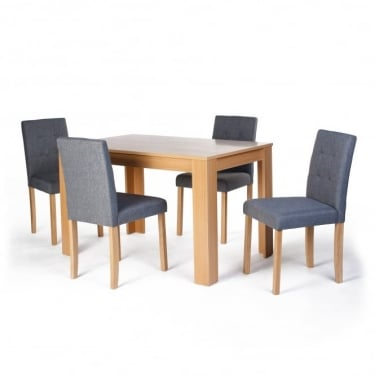 Norfolk Oak & Grey Dining Set 5-Pack