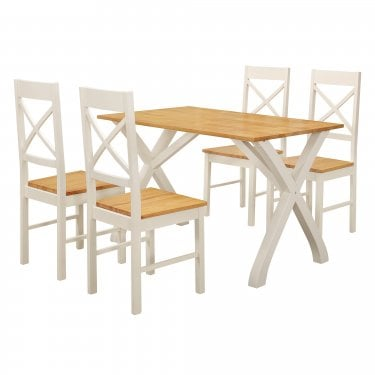 Normandy White Dining Set 5-Pack