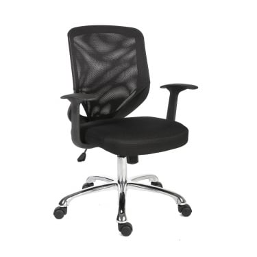 Nova Black Chair with Chrome Base