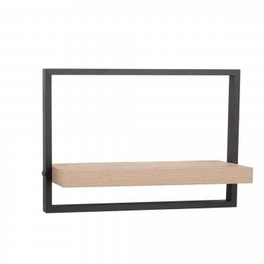 Nova Oak & Black Extra Wide Shelf Kit