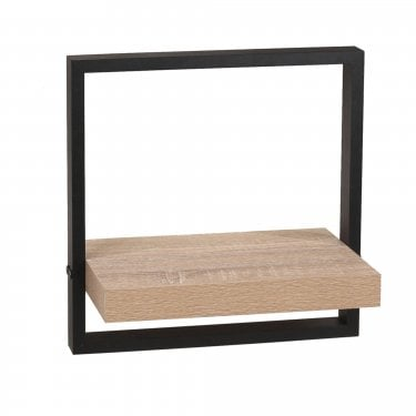 Nova Oak & Black Medium Shelf Kit