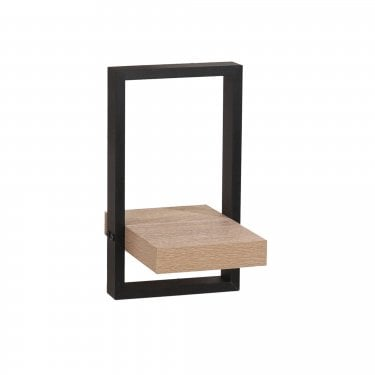 Nova Oak & Black Small Shelf Kit